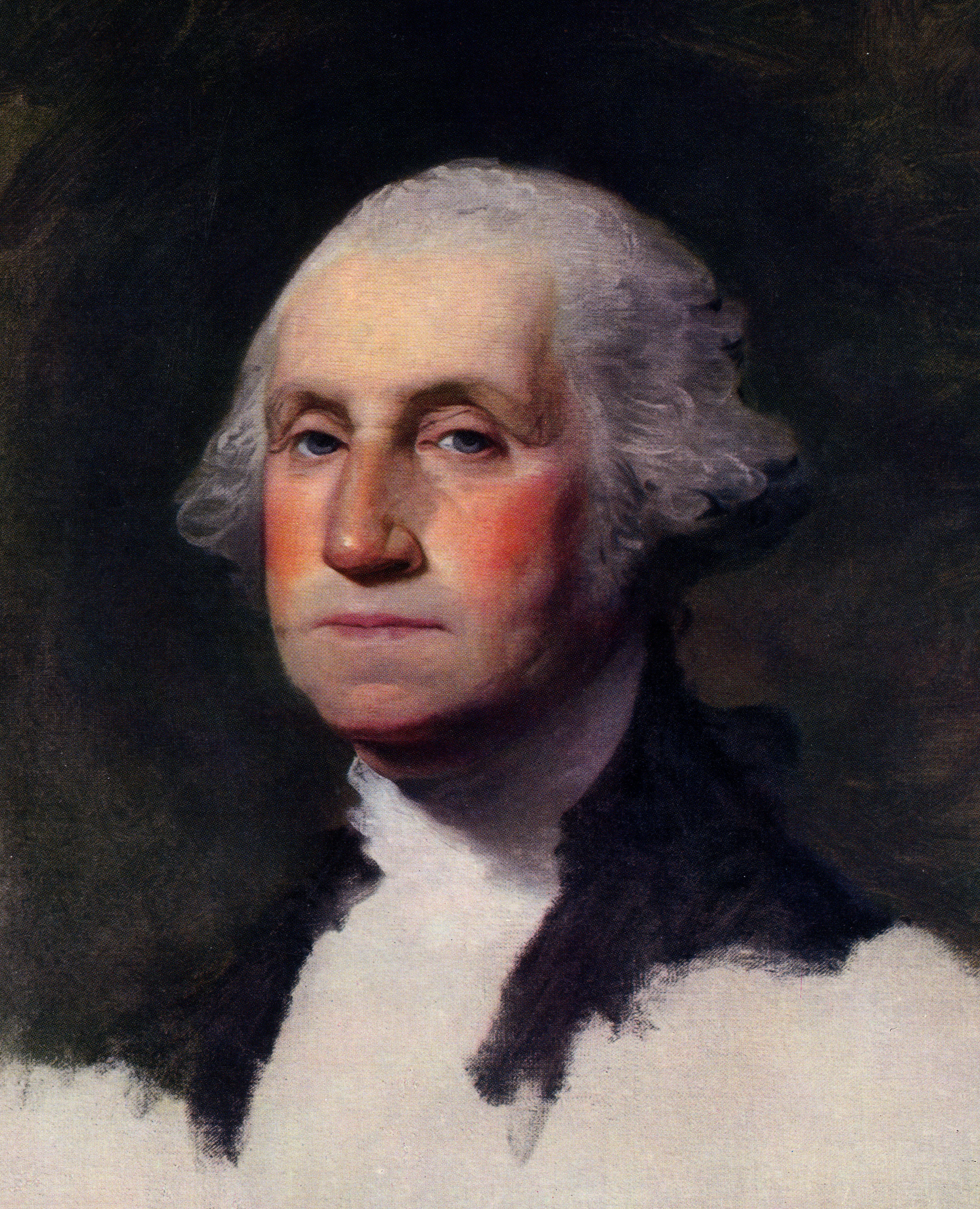 Gilbert stuart s 1796 oil painting portrait of george washington